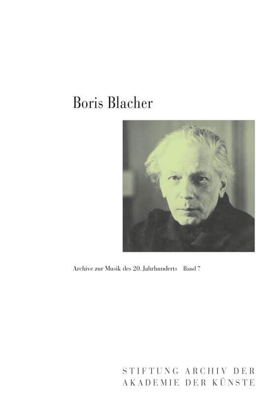 Heribert Henrich, Thomas Eickhoff (Hg.), Boris Blacher