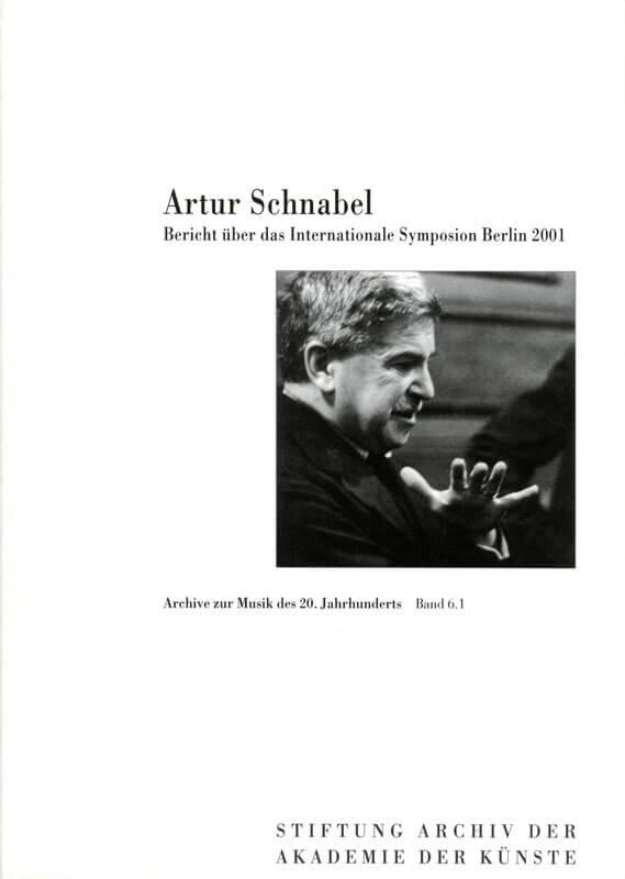 Werner Grünzweig (Hg.), Artur-Schnabel-Symposion 2001